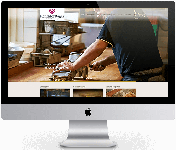 Hammel Bageren - Webdesign ADONE