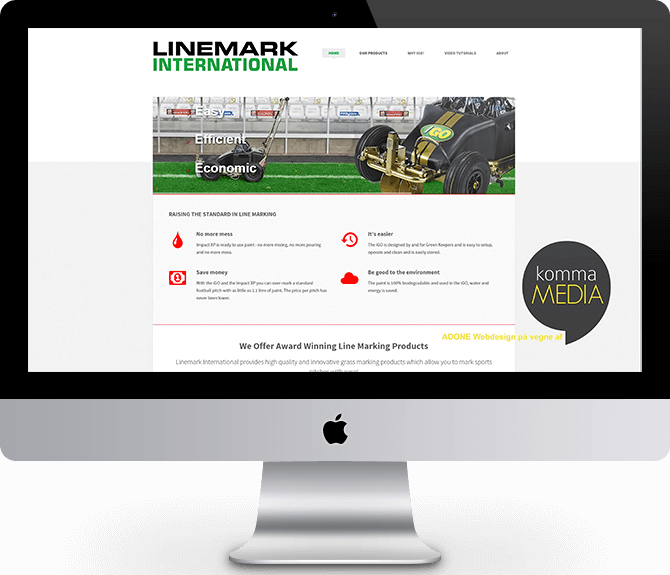 Linemark International for kommaMEDIA by ADONE