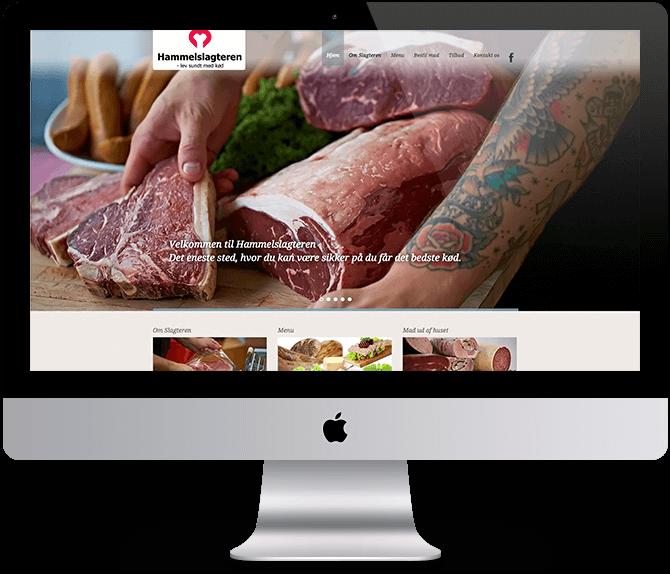 Hammel Slagteren - Webdesign ADONE
